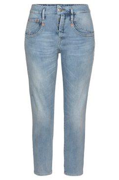 herrlicher 7-8 jeans »shyra cropped kaschmir« blauw