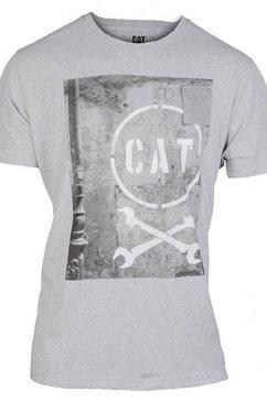 caterpillar t-shirt »herren media kurzarm t-shirt« grijs