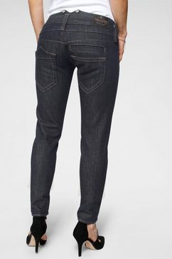 herrlicher slim fit jeans »pitch slim« blauw