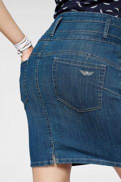 arizona jeansrok »mit extra breitem bund« blauw