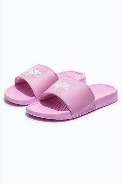 hype badslippers »unisex erwachsene badesandalen mit logo« roze