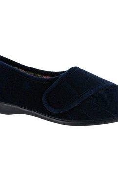 gbs pantoffels »audrey damen-frauen mit klettverschluss« blauw