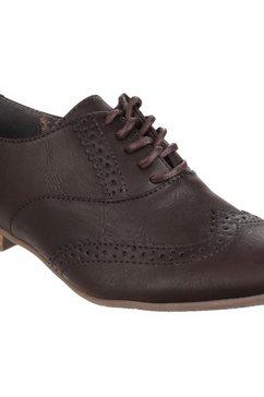 divaz schoenen met perforatie »damen schnuerschuhe levato mit perforation« bruin