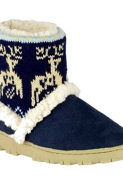 divaz pantoffels »divas denmark damen e« blauw