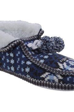 divaz pantoffels »damen lapland strick e« blauw