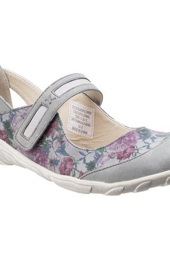 1098497546 slip-on sneakers »damen mary-jane-schuhe mit blumenmuster« multicolor