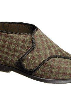 1098497542 pantoffels »keswick herren e - slippers - hausstiefel mit klettverschluss« bruin