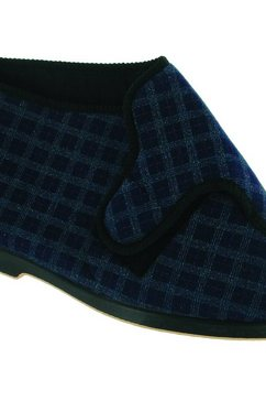 gbs pantoffels »keswick herren e - slippers - hausstiefel mit klettverschluss« blauw