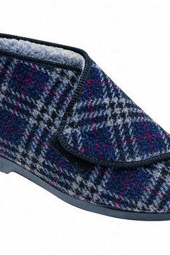 gbs pantoffels »williams grossbritannien herren e - slippers - hausstiefel mit klettverschluss« multicolor