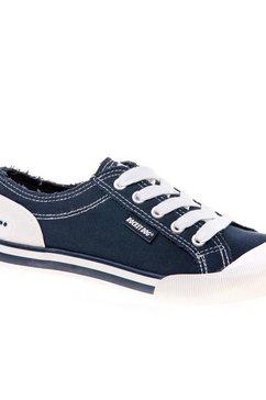 rocket dog sneakers »damen jazzin leinen schnuerschuhe« blauw
