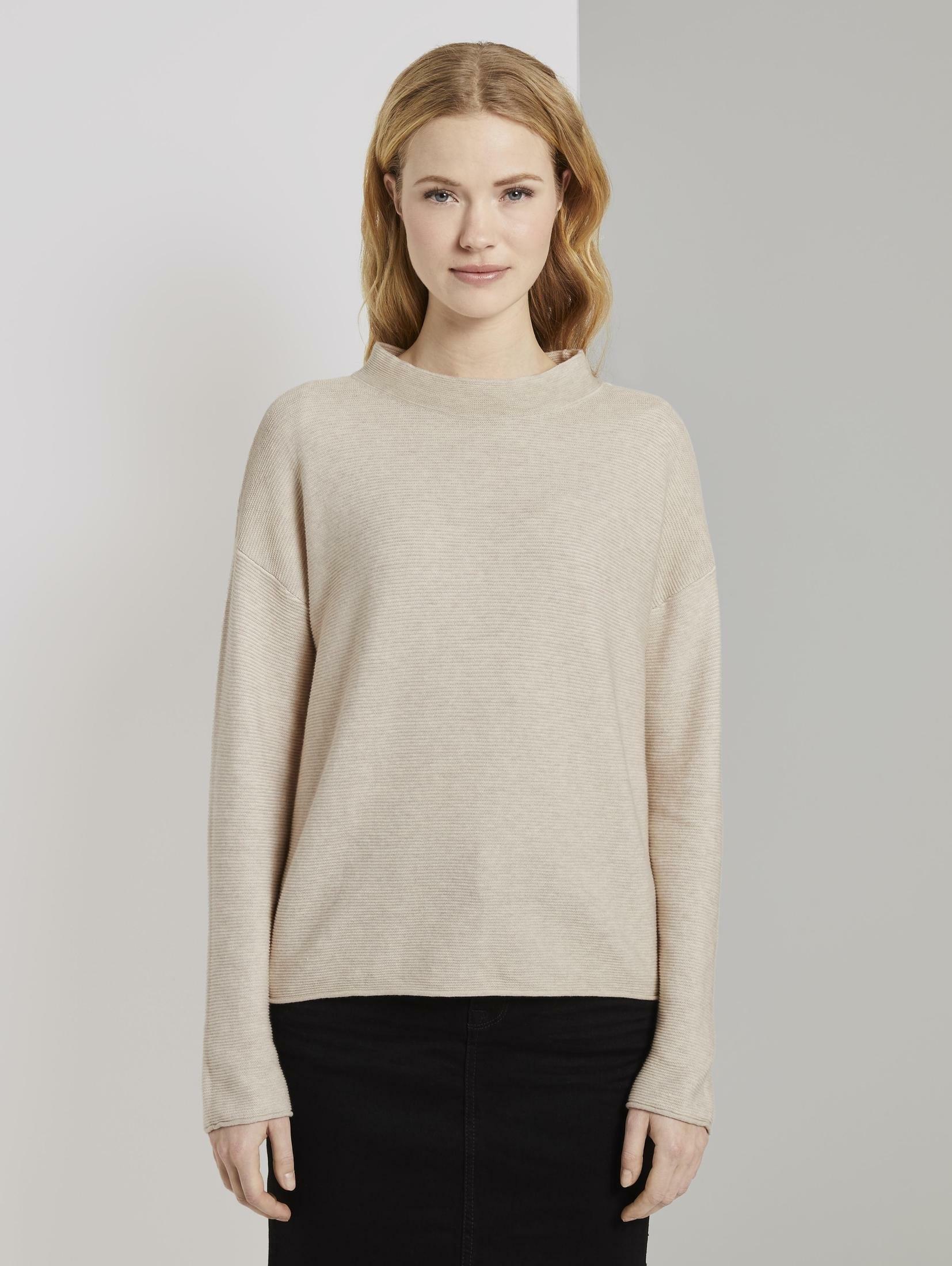 TOM TAILOR trui met staande kraag »strukturierter Pullover« bestellen: 30 dagen bedenktijd