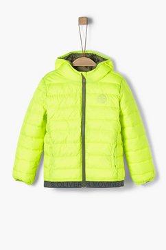 s.oliver junior effen gewatteerde jas voor jongens wit