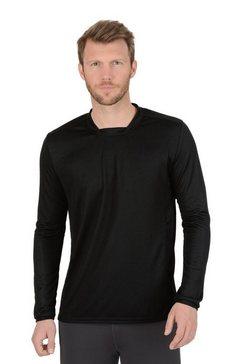 trigema sportshirt met lange mouw coolmax zwart