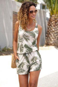 s.oliver beachwear korte jumpsuit beige