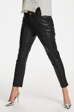 denim hunter leren broek »24 the leather« zwart