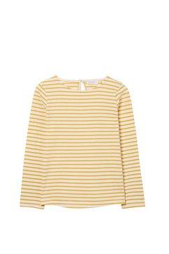 fat face shirt met lange mouwen »kinder streifentop, langaermlig« geel