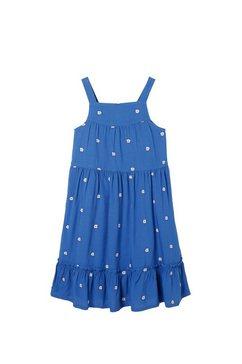 fat face jurk in overgooiermodel »maedchen mit gestickten gaensebluemchen« blauw