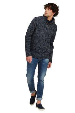 fat face gebreide trui »herren pullover burgess mit reissverschluss am kragen« blauw