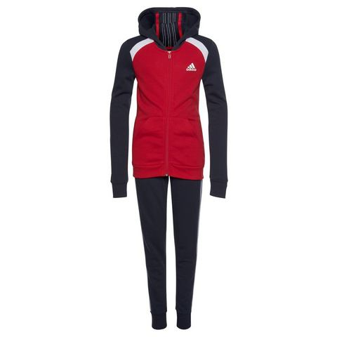 adidas Performance joggingpak GIRLS HOOD COTTON TRACKSUIT