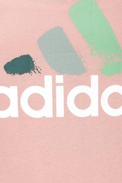adidas performance t-shirt »joung girls batch of sport graphic tee« roze