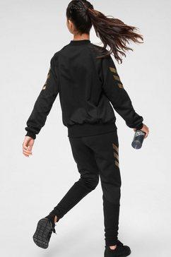 adidas performance trainingspak »girls tracksuit« zwart