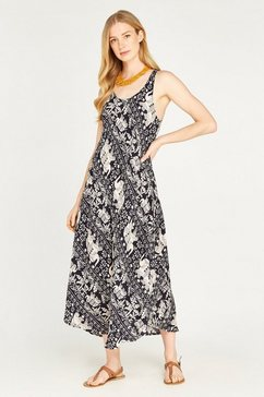 apricot gedessineerde jurk »tribal elephant sack maxi dress« blauw