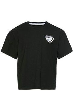 puma t-shirt »alpha style tee girls« zwart
