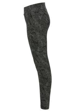 puma legging »alloverprint leggings girls« zwart