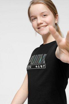 puma t-shirt »alpha tee girls« zwart