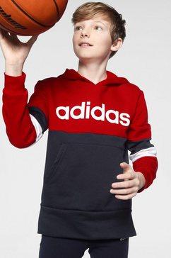 adidas performance hoodie »youth boy linear club hood fleece« blauw