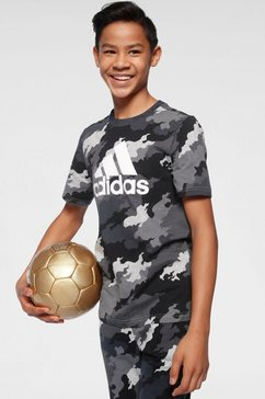 adidas performance t-shirt »youth boys must have batch of sport tee« grijs