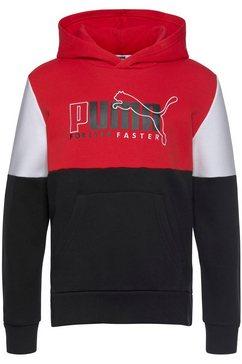 puma hoodie »alpha hoodie fleece boys« zwart