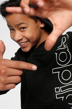 adidas performance hoodie »youth boys logo hoody« zwart