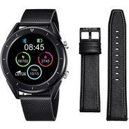 lotus smartwatch smartime, 50007-1 (3-delig, met wisselband van echt leer en oplaadkabel) zwart