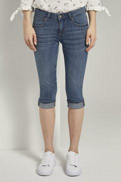 tom tailor slim fit jeans »carrie slim capri-jeans« blauw
