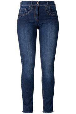 recover pants jeans met borduursel blauw