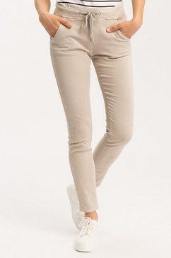 cross jeans jogpants »janelle« beige