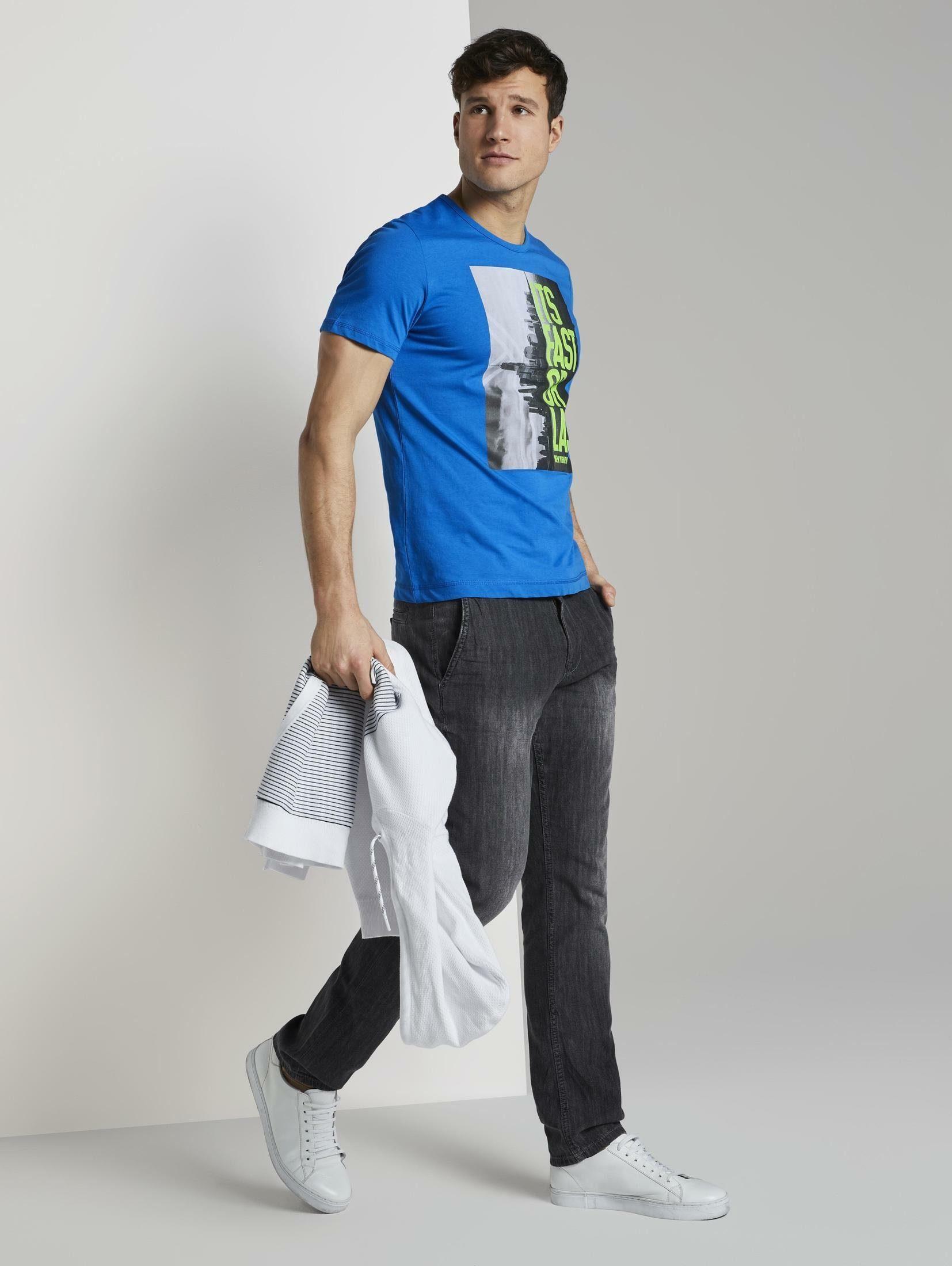 Tom Tailor T-shirt Mit Nyc-print Snel Gevonden - Geweldige Prijs