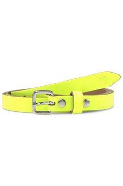 tom tailor denim leren riem »neon-taillenguertel aus leder« geel