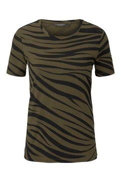 tom tailor mine to five t-shirt »t-shirt im zebra-muster« beige