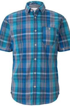 tom tailor overhemd met korte mouwen blauw
