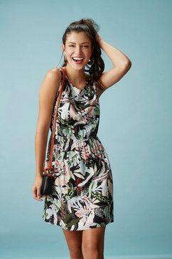 tom tailor denim gedessineerde jurk multicolor