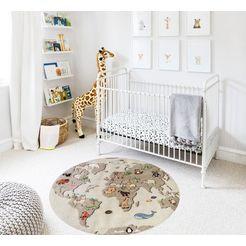 luettenhuett vloerkleed voor de kinderkamer »globus« beige