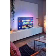 philips 65pus7304 led-televisie (164 cm - (65 inch), 4k ultra hd, smart-tv android tv zilver