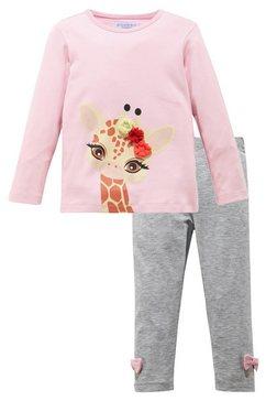 klitzeklein shirt met lange mouwen  legging roze
