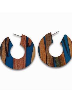 j jayz oorringen »rund, breites design« blauw