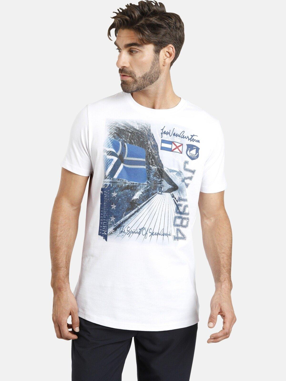 Jan Vanderstorm shirt met ronde hals OYSTEIN met fotoprint, comfort fit - gratis ruilen op otto.nl