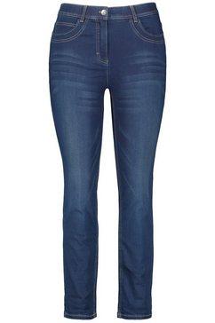 samoon korte broek jeans »5-pocket jeans in 7-8 laenge betty jeans« blauw