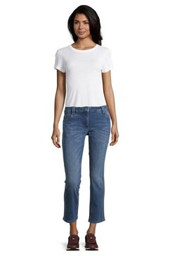 betty barclay modern fit jeans »mit waschung« blauw