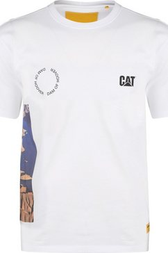 caterpillar t-shirt »cat hoover« wit
